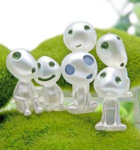 New 5pcs/set Luminous Tree Elves Toy Cartoon Princess Mononoke Figure Kids Gifts