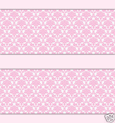 Pink Damask Wallpaper Border Wall Decals Baby Girl Princess Room Stickers Decor