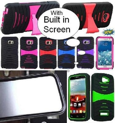 NP ARMOR Case with BUILT IN SCREEN PROTECTOR Faceplate Phone Cover Case For LG - Lg Phone Faceplates