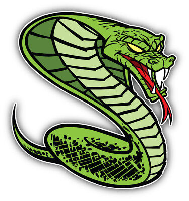 Animal Car (Angry Snake Animal Car Bumper Sticker Decal  - 3'' or 5'' )