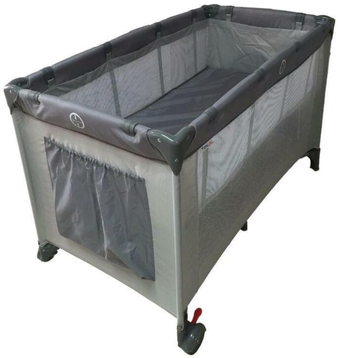 Campingbedje De Luxe.Mamaloes Ding Deluxe Grey Campingbedje Incl Bodemverhoger 2dehands Be