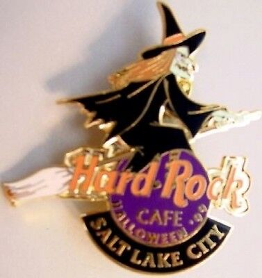 Halloween Salt Lake City (Hard Rock Cafe SALT LAKE CITY 1999 HALLOWEEN PIN Witch Riding Broom LE 500)
