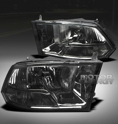 09-18 DODGE RAM TRUCK CRYSTAL HEADLIGHT SMOKE 1500 2500 3500 SLT ST SXT TRX TRX4