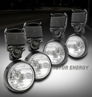 Roof fogebay 1 2x 4 round rack rooffogbull bar light lamp escalade avalanche blazer mozeypictures Choice Image