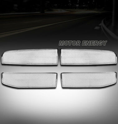06-08 DODGE RAM PICKUP FRONT UPPER STAINLESS STEEL MESH GRILLE GRILL CHROME 4PCS