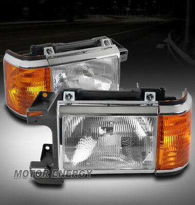 FOR 87-91 FORD BRONCO F150 F250 F350 HEADLIGHT HEADLAMP LAMP LEFT+RIGHT PAIR SET