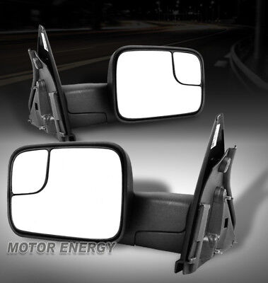 02-08 DODGE RAM 1500/03-09 2500 3500 TOWING ADJUSTABLE EXTEND MANUAL SIDE MIRROR