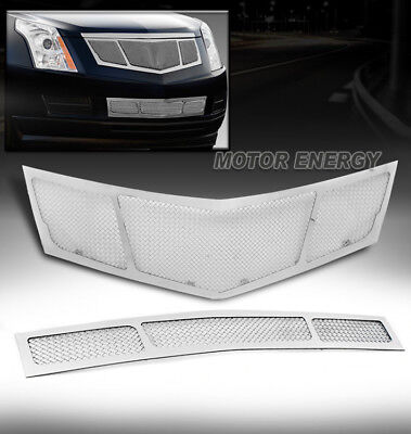 10-12 CADILLAC SRX UPPER + BUMPER LOWER MESH GRILLE COMBO CHROME STAINLESS STEEL