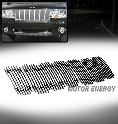 FOR 99-04 JEEP GRAND CHEROKEE UPPER BILLET GRILLE GRILL INSERT ALUMINUM POLISHED