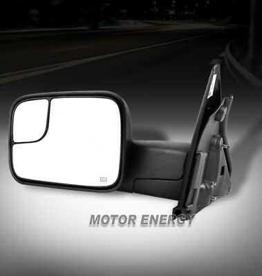 02-08 DODGE RAM 1500/03-09 2500 3500 TOW TRAILER EXTENDED POWER MIRROR DRIVER LH