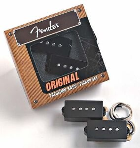 GENUINE FENDER Original '62 P BASS Pickups Set Precision Bass 1962 Reissue