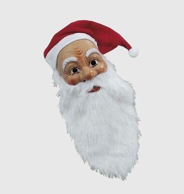 WEIHNACHTSMANN MASKE Nikolausmaske mit Mütze Bart Nikolaus St. Claus Noel