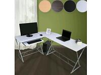 New boxed Miadomodo Corner Desk (White) Computer PC Home Office Workstation Table