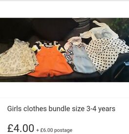 Girls clothes bundle size 3-4 years