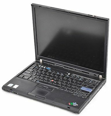 Ibm Thinkpad T60 Core Duo 1 83Ghz 1Gb Ram No Hdd Dvd Wi Fi 14 1  Laptop Notebook
