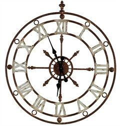 WEATHERED METAL CLOCK By SPLIT P/LARGE WALL CLOCK