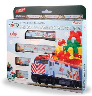 N Gauge - Kato Operation North Pole Christmas Train Set 106-2016 Neu