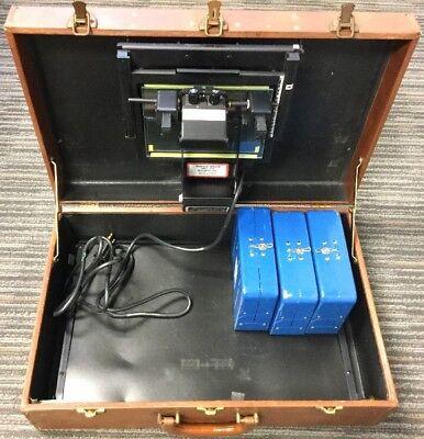 Vintage Visidyne Microfiche Reader Original Case 3 Microfilm Storage Containers