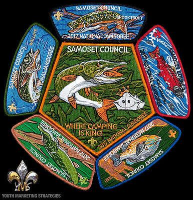 2017 Boy Scout Jamboree Samoset Council JSP CSP Patch Badge Set Lot BSA 400 Made