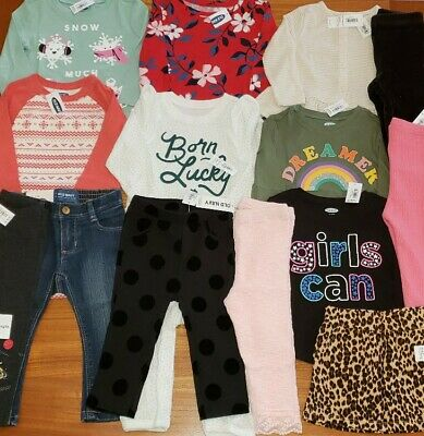 Old Navy Girls 12-18 MONTH Clothing Lot 14 PIECES Tops Pants Fall Winter #28-583