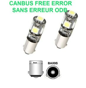 ampoules led smd c4 picasso bax9s h6w blanc xenon 6000k canbus 12v ebay. Black Bedroom Furniture Sets. Home Design Ideas