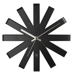 Umbra Ribbon 12 Stainless Steel Wall Clock (Black) 118070-040