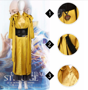 Doctor Strange Ancient One Costume Yellow Combat Outfit Cosplay