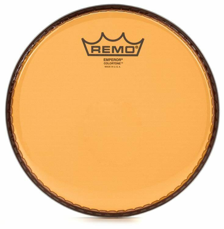 "Remo 12"" Emperor Clear Colortone, Orange"