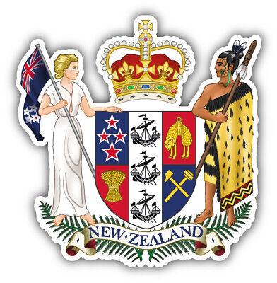 New Zealand Coat Of Arms Car Bumper Sticker Decal - 3'' or (New Zealand Coat Of Arms)