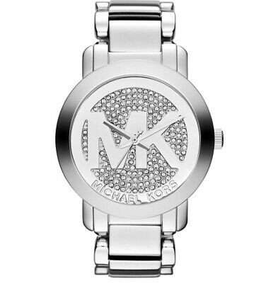 Michael Kors MK3461 Runway Silver Pave Dial Stainless Steel Women's Watch