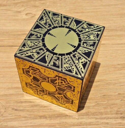 Hellraiser Puzzle Box Solid Wood Lament Cube Foil Face Originator Full Size New
