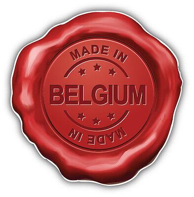 Made In Belgium Wafer Car Bumper Sticker Decal 5
