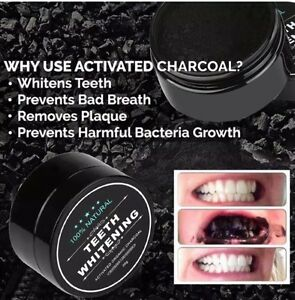 Adults Kids Natural Activated Charcoal Teeth whitening Powder