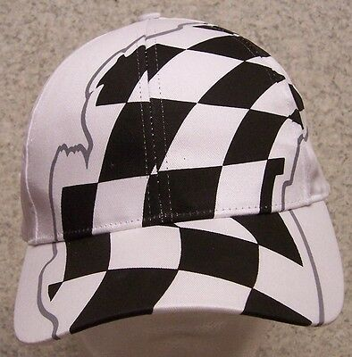 Embroidered Baseball Cap Auto Racing Checkered Flag NEW 1 hat size fit all (Checkered Flag Baseball Cap)