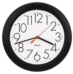 Westclox Basic 10 Black Case Wall Clock White Dial 461861