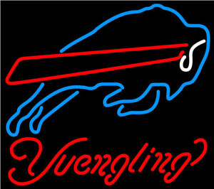 New Yuengling Buffalo Bills Bar Beer Neon Light Sign 20
