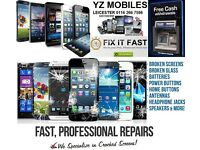 iPhone iPad tablet Samsung Galaxy Xperia Nokia Phone Screen Repairs Laptop Repairs iPhone 5G 5C 5S