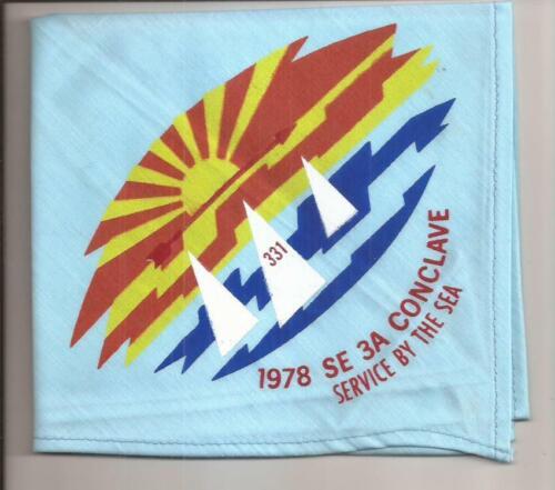 1978 Section 3-A Conclave Neckerchief 331 Klahican Lodge Host