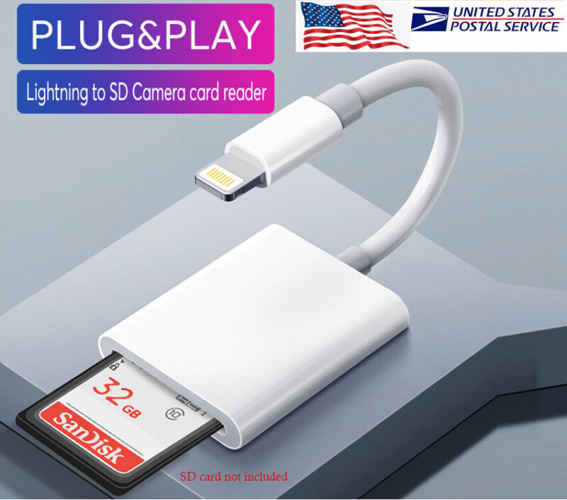 SD Card Reader Digital Camera Reader Adapter Trail Game Camera Viewer for iPhone