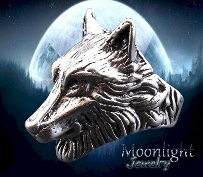 New Wolfs Head Stainless Steel Mens Punk Rock Gothic Biker Silver Dog Ring