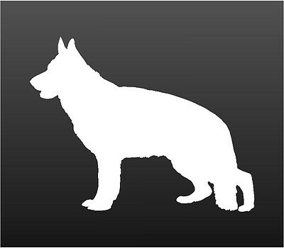 German Shepherd Vinyl Decal Car Window Laptop Dog Silhouette Sticker