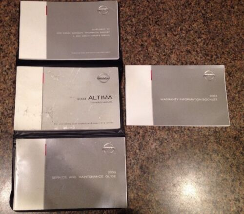 2003 Nissan Altima Owners Manual Owner's Guide with Case OEM