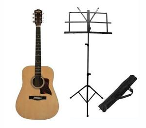 Acoustic Guitar with Music Stand for beginners 41 inch full size Brand New iMusic579