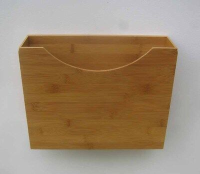 Magnetic File Box - Bamboo