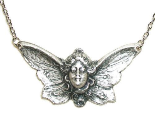 BUTTERFLY LADY GODDESS Necklace Art Nouveau Style Beautiful Detailing