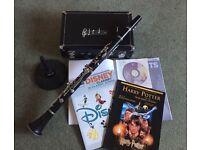 Artemis Bb clarinet, stand & music books