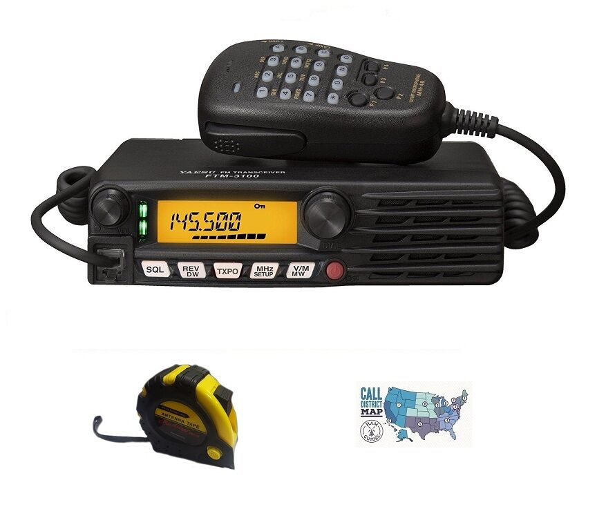 Yaeus FT-2980R VHF Single Band Mobile Radio with FREE Radiowavz Antenna Tape!