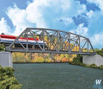 4522 Walthers Arched Pratt Truss Railroad Bridge -- Double-Track HO Scale Kit Double Track Truss Bridge