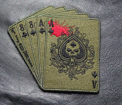 Dead Mans Hand Aces Skull Oda Forest Tactical Combat Morale Army Hook Patch