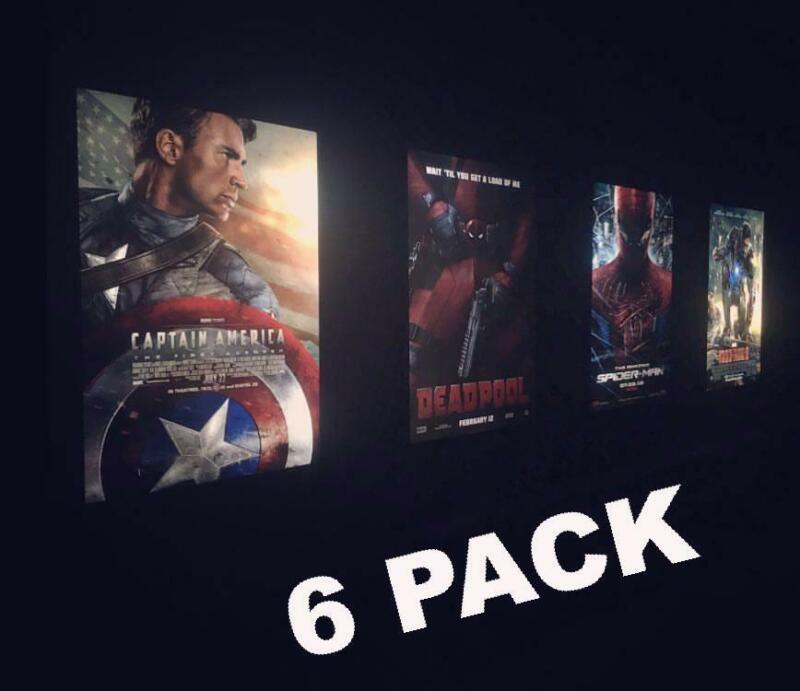 6-Pack of our World Famous LED Light Box Glowbox Poster Frames